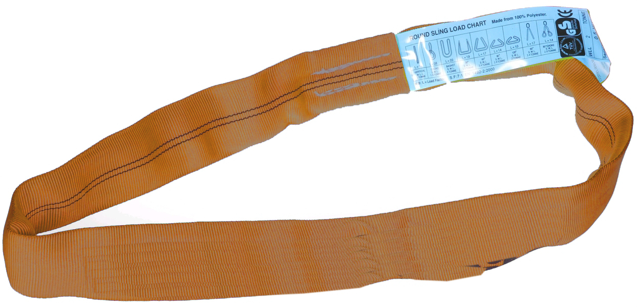 10-12 Tonne SWL Orange Roundslings