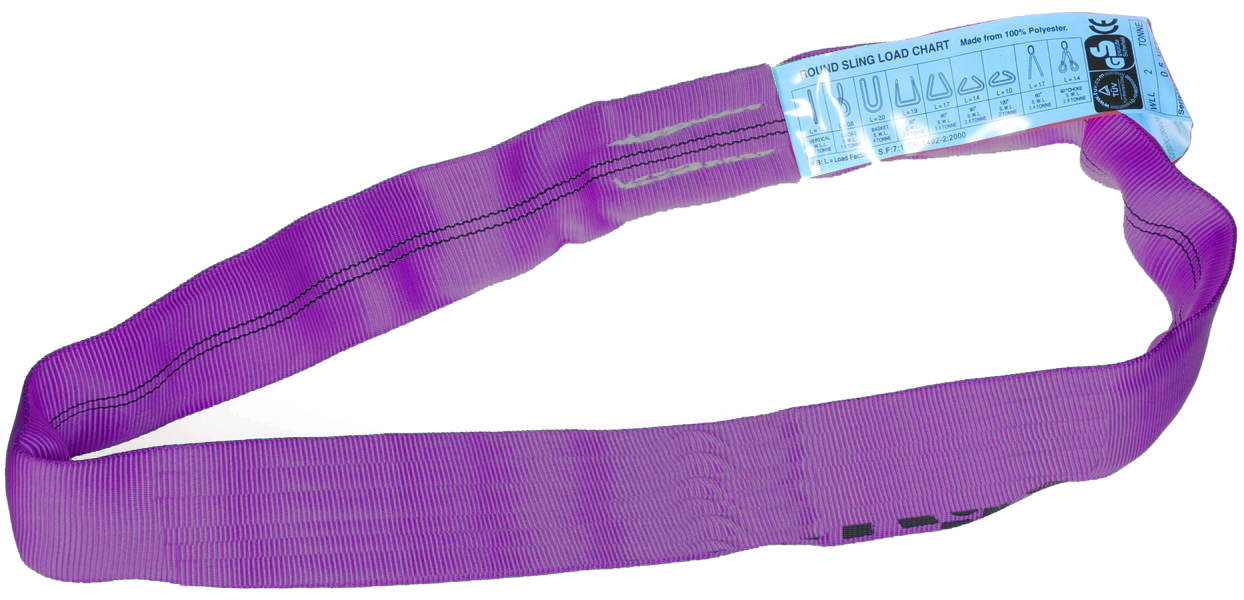 1 metre circumference Violet Polyester Roundsling
