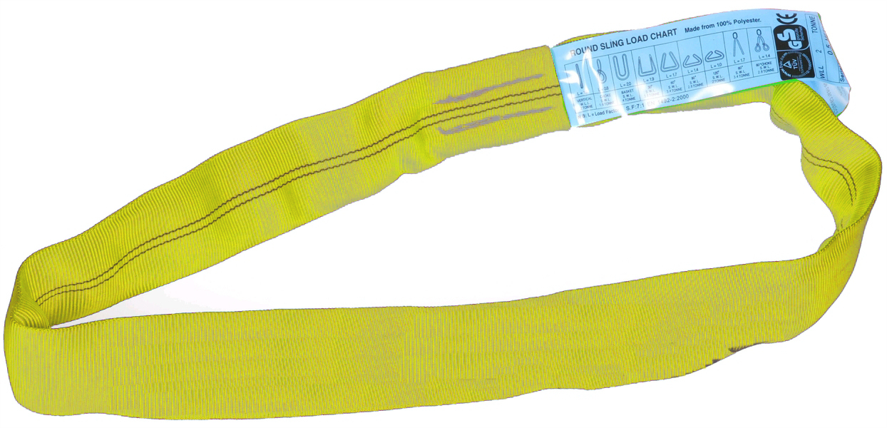 3 Tonne SWL Yellow Roundslings